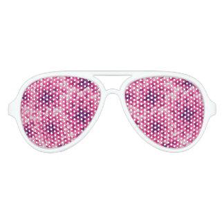 Summer colorful pattern purple dahlia aviator sunglasses