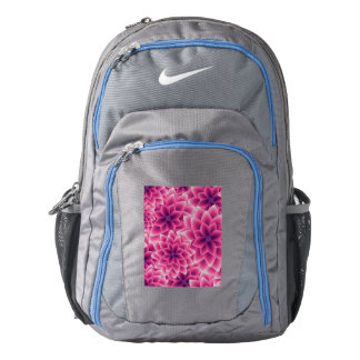 Summer colorful pattern purple dahlia backpack