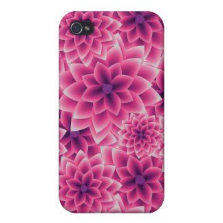 Summer colorful pattern purple dahlia case for the iPhone 4