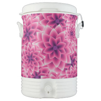 Summer colorful pattern purple dahlia cooler