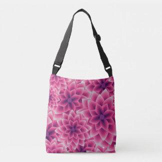 Summer colorful pattern purple dahlia crossbody bag