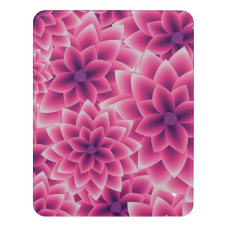 Summer colorful pattern purple dahlia door sign