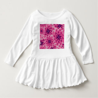 Summer colorful pattern purple dahlia dress
