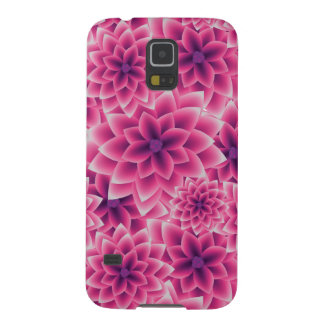 Summer colorful pattern purple dahlia galaxy s5 cases