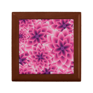 Summer colorful pattern purple dahlia gift box