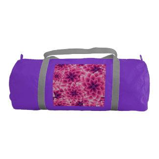 Summer colorful pattern purple dahlia gym bag