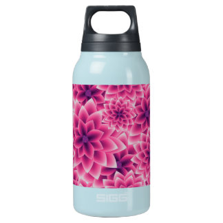 Summer colorful pattern purple dahlia insulated water bottle