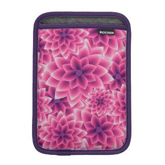 Summer colorful pattern purple dahlia iPad mini sleeve