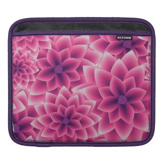 Summer colorful pattern purple dahlia iPad sleeve