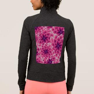 Summer colorful pattern purple dahlia jacket