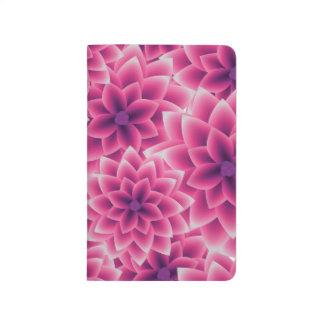 Summer colorful pattern purple dahlia journal