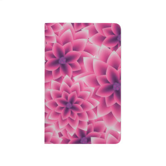 Summer colorful pattern purple dahlia journals