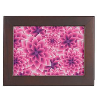 Summer colorful pattern purple dahlia keepsake box