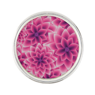 Summer colorful pattern purple dahlia lapel pin