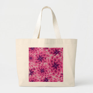 Summer colorful pattern purple dahlia large tote bag