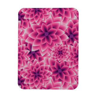 Summer colorful pattern purple dahlia magnet