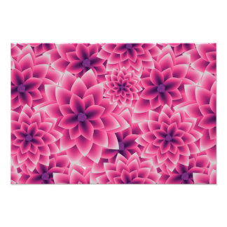Summer colorful pattern purple dahlia photo print
