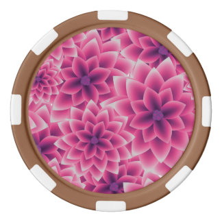 Summer colorful pattern purple dahlia poker chips