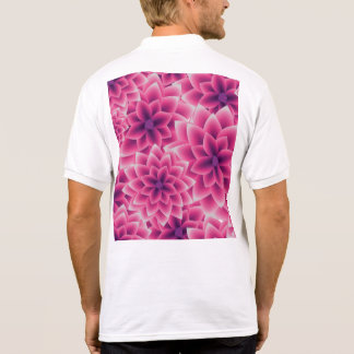 Summer colorful pattern purple dahlia polo shirt