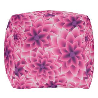 Summer colorful pattern purple dahlia pouf