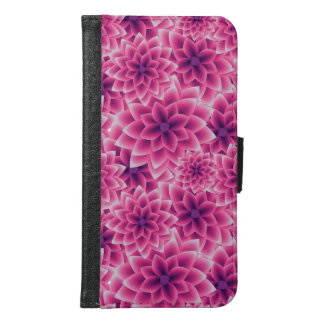 Summer colorful pattern purple dahlia samsung galaxy s6 wallet case