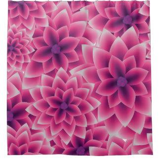 Summer colorful pattern purple dahlia shower curtain