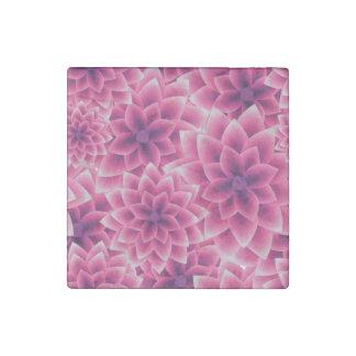 Summer colorful pattern purple dahlia stone magnet