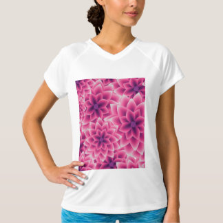 Summer colorful pattern purple dahlia T-Shirt
