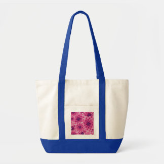 Summer colorful pattern purple dahlia tote bag