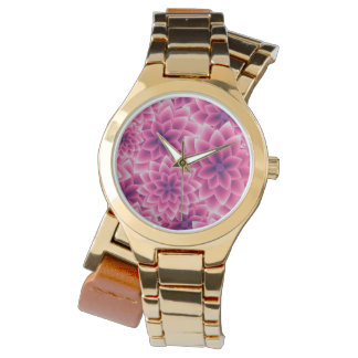 Summer colorful pattern purple dahlia watch