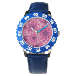 Summer colorful pattern purple dahlia wrist watches