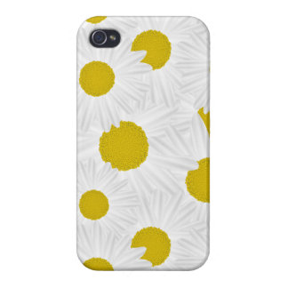 Summer colorful pattern purple marguerite cover for iPhone 4