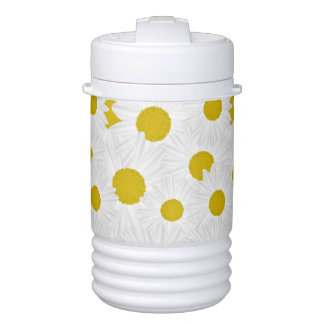 Summer colorful pattern purple marguerite drinks cooler