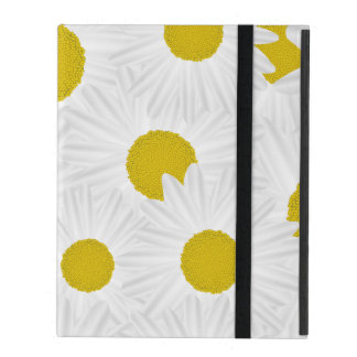 Summer colorful pattern purple marguerite iPad folio case