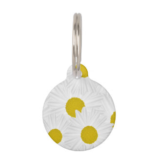 Summer colorful pattern purple marguerite pet ID tag