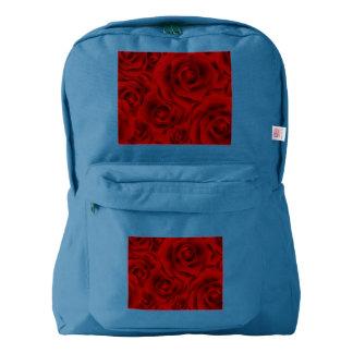Summer colorful pattern rose backpack
