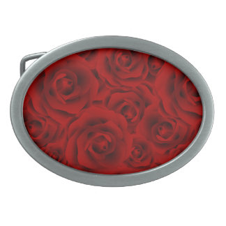 Summer colorful pattern rose belt buckle