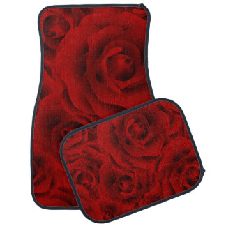 Summer colorful pattern rose car mat