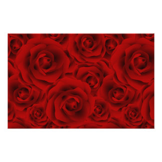 Summer colorful pattern rose customised stationery