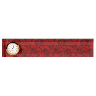 Summer colorful pattern rose desk nameplate