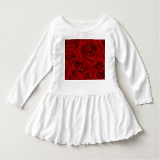 Summer colorful pattern rose dress