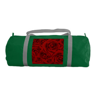 Summer colorful pattern rose gym bag