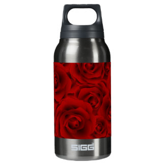 Summer colorful pattern rose insulated water bottle
