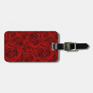 Summer colorful pattern rose luggage tag