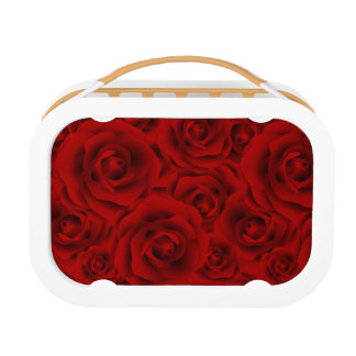 Summer colorful pattern rose lunch box