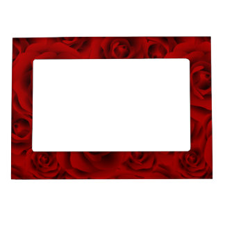 Summer colorful pattern rose magnetic picture frame