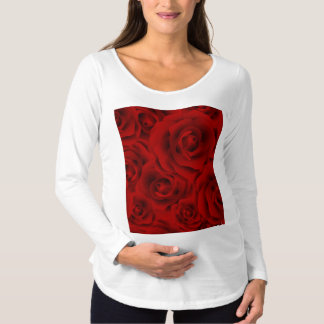 Summer colorful pattern rose maternity T-Shirt