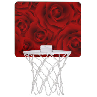 Summer colorful pattern rose mini basketball hoop