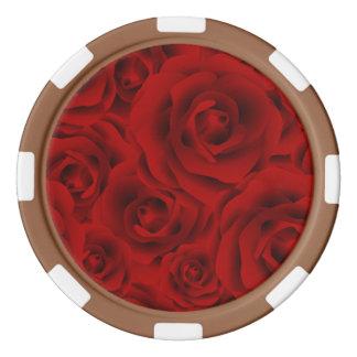Summer colorful pattern rose poker chips