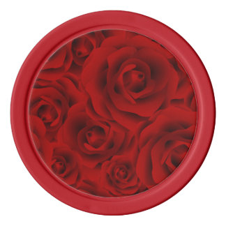 Summer colorful pattern rose poker chips